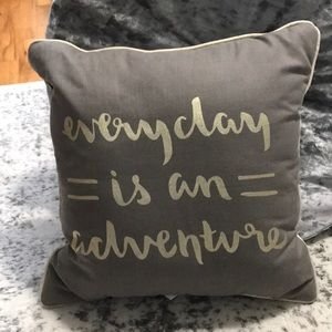 """Target """"Everyday is an Adventure"""" Accent Pillow"""